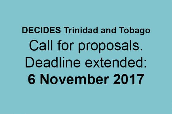 Decides Trinidad And Tobago Extension Of The Call For Proposals